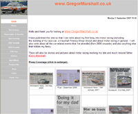 Screenshot of Gregor Marshall's website
