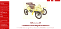Swedish Vauxhall register website