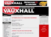 The Total Vauxhall website