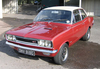 Metallic red Viva GT at the VBOA open day